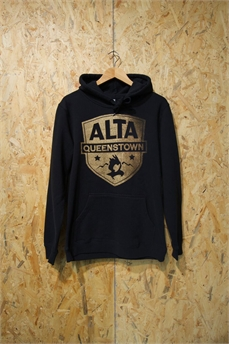Alta Stencil Hood Lg Patch Black-crews and hoodies-Alta