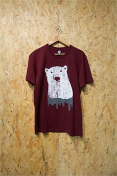 Alta Staple Tee PolarBear Burgundy-tees-Alta