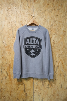 Alta Box Crew LgPatch GryMarle-crews and hoodies-Alta