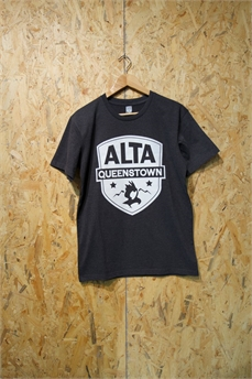 Alta Staple Tee Lg Patch Asphalt Marle-apparel-Alta