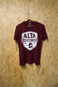 Alta Staple Tee Lg Patch Burgundy-apparel-Alta