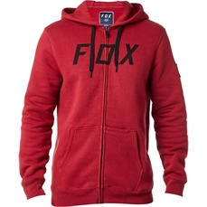 Fox District 2 Zip Fleece Dark Red-crews and hoodies-Alta