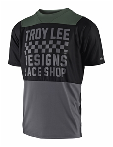 Troy Lee Skyline SS Jsy Check Black Grey-jerseys-Alta