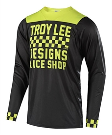 Troy Lee Skyline LS Jersey Chker Black Lime-jerseys-Alta