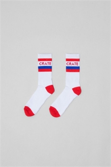 Crate Stripe Socks White-xmas ideas-Alta