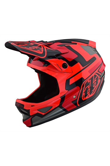 Troy Lee D3 Fiberlite Speedcode Red