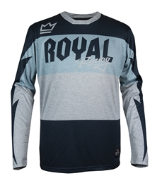 Royal Racing Race Jsy LS BLUE GryHthr-jerseys-Alta