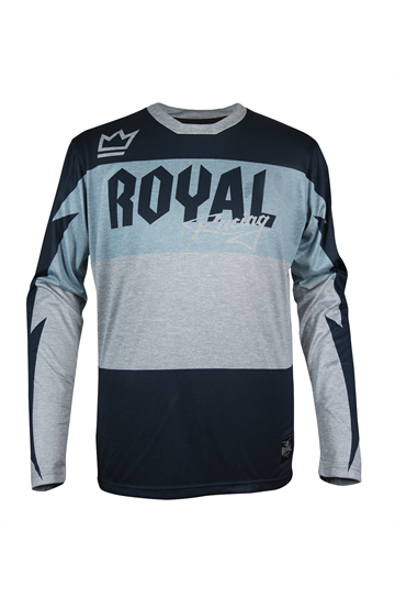 Royal Racing Race Jsy LS BLUE GryHthr