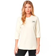 Fox Wms Heater 3/4 Crew Flce Bone-crews and hoodies-Alta