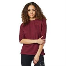 Fox Wms Heater 3/4 Crew Flce Cranberry-crews and hoodies-Alta