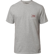 Fox Heater SS Pocket Tee Heather Grey-tees-Alta