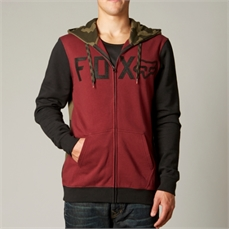 Fox Wingd Camo Zip Fleece Burgundy-tops-Alta