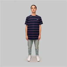 Crate Easy Stripe Tee Navy-tees-Alta