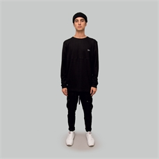 Crate Waffle Crew Long Sleeve Black-brands-Alta