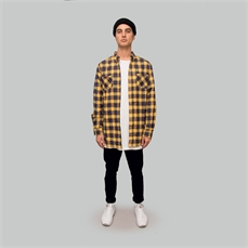 Crate AW19 Flannel Shirt Yellow-shirts-Alta