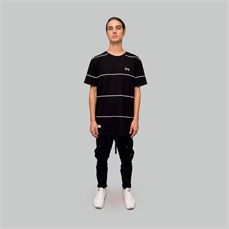 Crate Sparse Stripe T-Shirt Black-tees-Alta