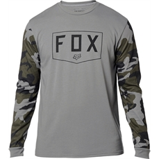 Fox Shield LS Tech Tee Grey Camo-tees-Alta