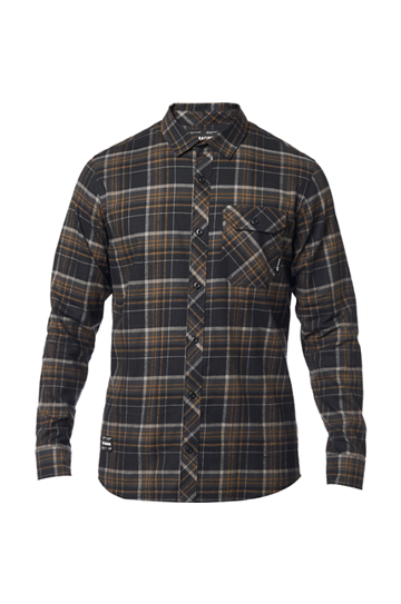Fox Gamut Stretch Flannel Black