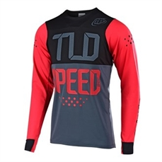 Troy Lee Skyline LS Jsy Speedshop Red Blk-jerseys-Alta